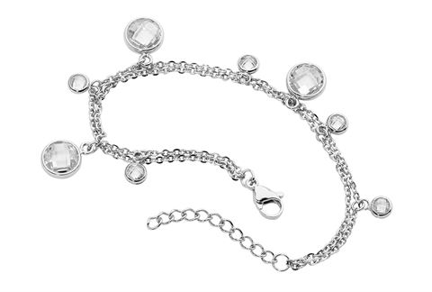 Ellani Stainless Steel and crystal Bracelet