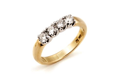 4 Stone Diamond Eternity Ring